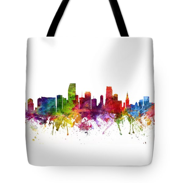 Miami Cityscape 06 Tote Bag by Aged Pixel