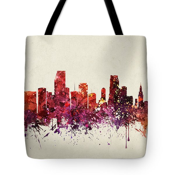 Miami Cityscape 09 Tote Bag by Aged Pixel