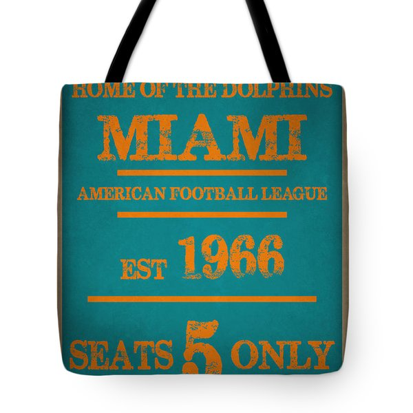 Miami Dolphins Sign Tote Bag