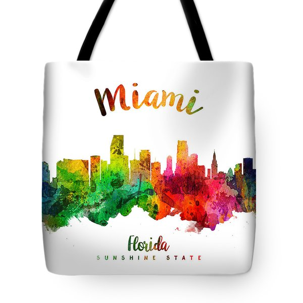 Miami Florida 24 Tote Bag by Aged Pixel