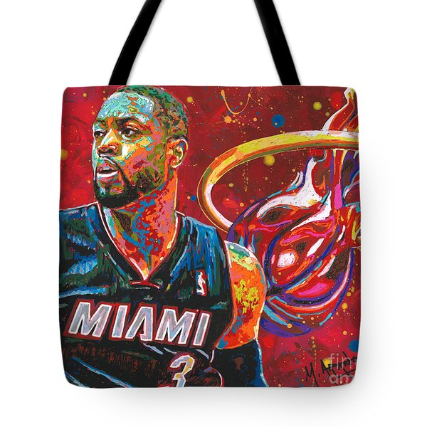 Miami Heat Legend Tote Bag by Maria Arango
