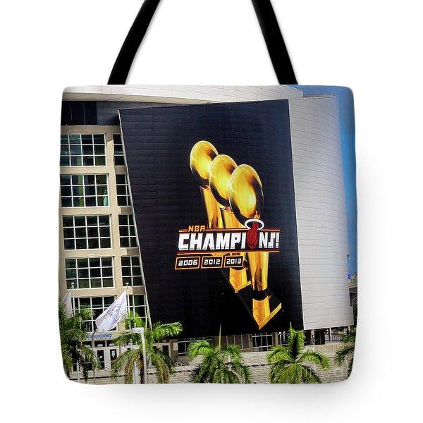 Miami Heat Nba Champions 2006-2012-20133 Tote Bag