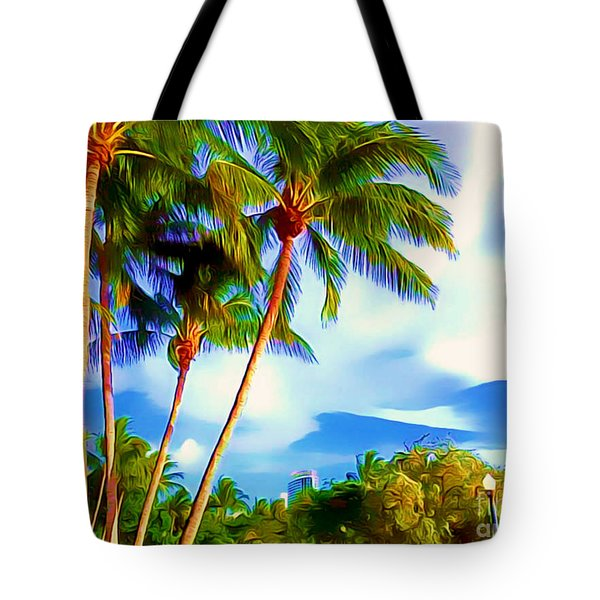 Miami Maurice Gibb Memorial Park Tote Bag