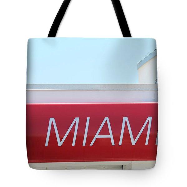 Miami Sign Tote Bag