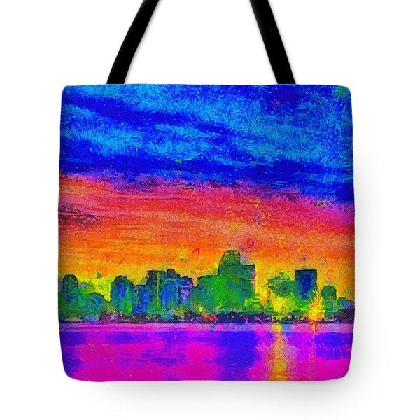 Miami Skyline 162 - Da Tote Bag