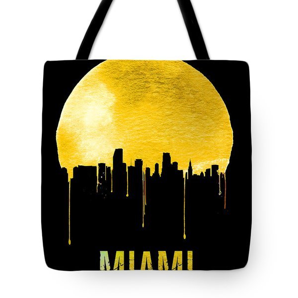 Miami Skyline Yellow Tote Bag