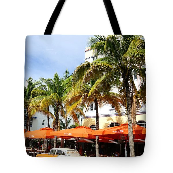 Miami South Beach Ocean Drive 8 Tote Bag by Nina Prommer