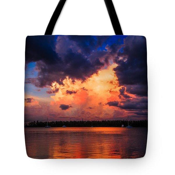 Miami Storm Tote Bag by Jonathan Gewirtz