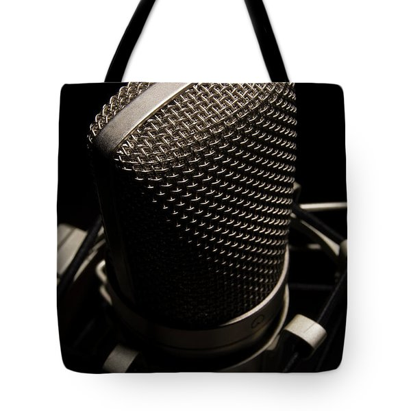Tote Bag featuring the photograph Mic by Brian Jones