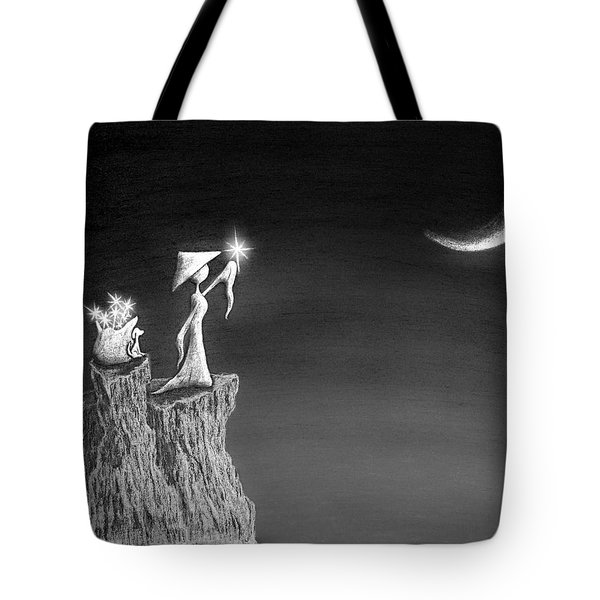 Micah Monk 11 - Light Up The Sky Tote Bag