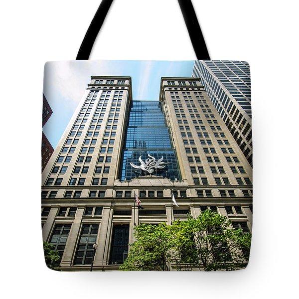 Michael A Bilandic Building Chicago Tote Bag by Deborah Smolinske