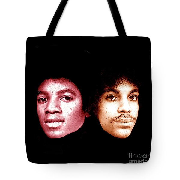 Michael And Prince In One Tote Bag