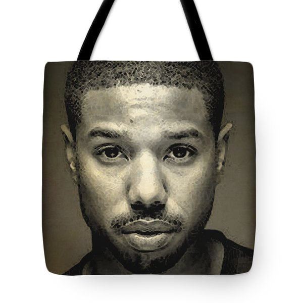 A Portrait Of Michael B. Jordan Tote Bag