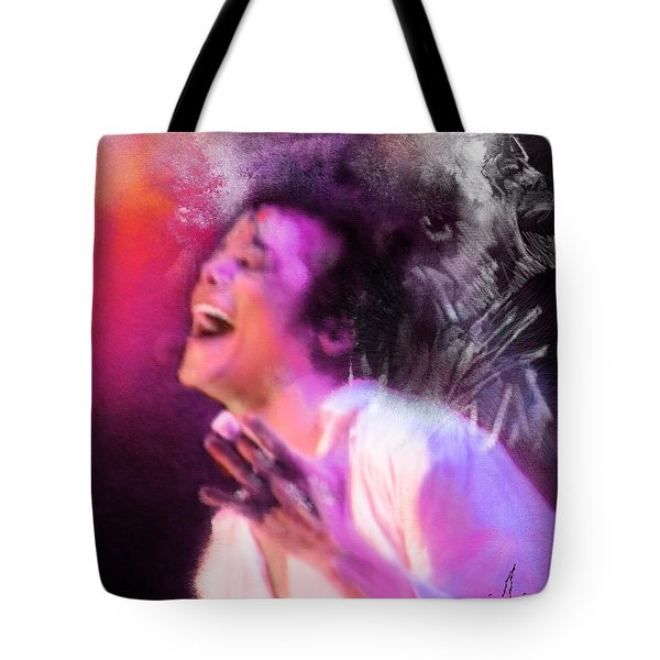 Michael Jackson 11 Tote Bag by Miki De Goodaboom
