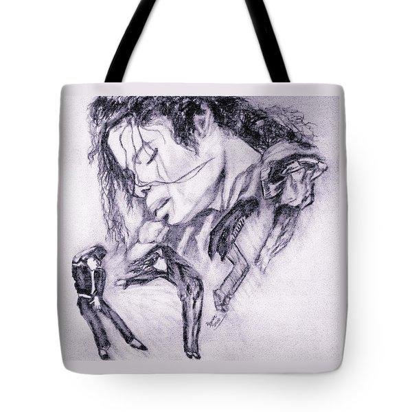 Michael Jackson Dance Tote Bag by Regina Brandt