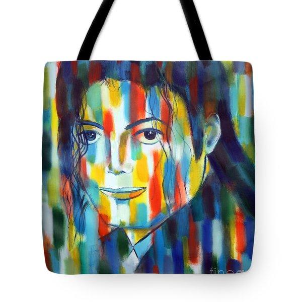 Michael Jackson  The Man In Color Tote Bag by Habib Ayat