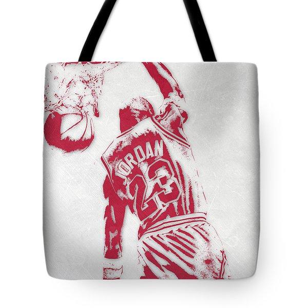 Michael Jordan Chicago Bulls Pixel Art 1 Tote Bag