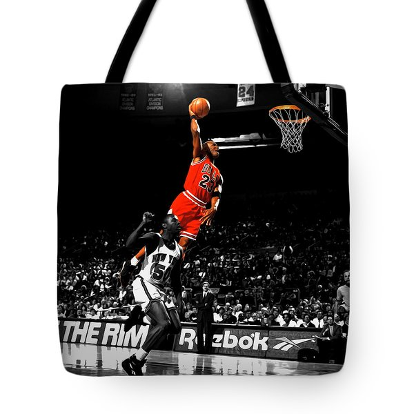 Michael Jordan Suspended In Air Tote Bag