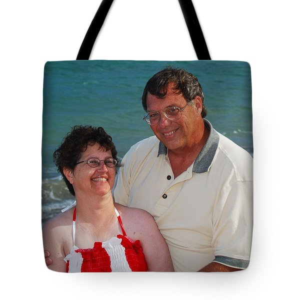 Michael  Peychich And His Sweetheart Tote Bag by Michael Peychich