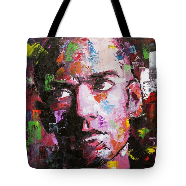 Tote Bag featuring the painting Michael Stipe by Richard Day