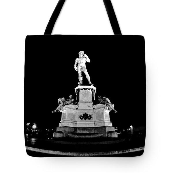 Michelangelo At Night Tote Bag