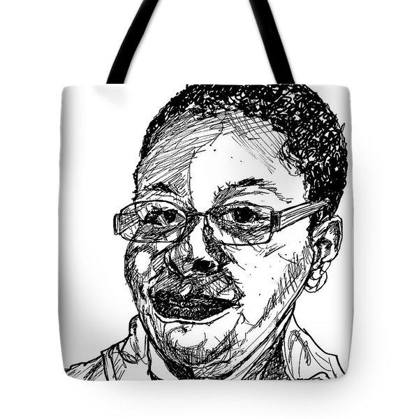 Michelle Caricature Tote Bag