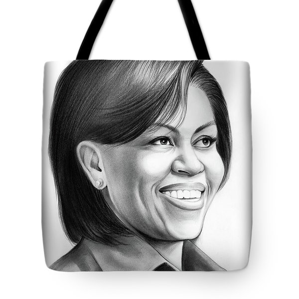 Michelle Obama Tote Bag by Greg Joens