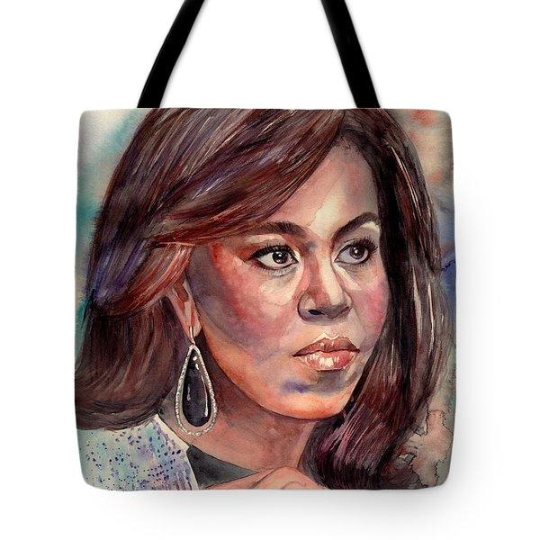 Michelle Obama Portrait Tote Bag