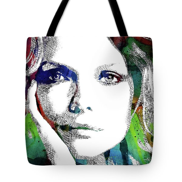 Michelle Pfeiffer Tote Bag by Mihaela Pater