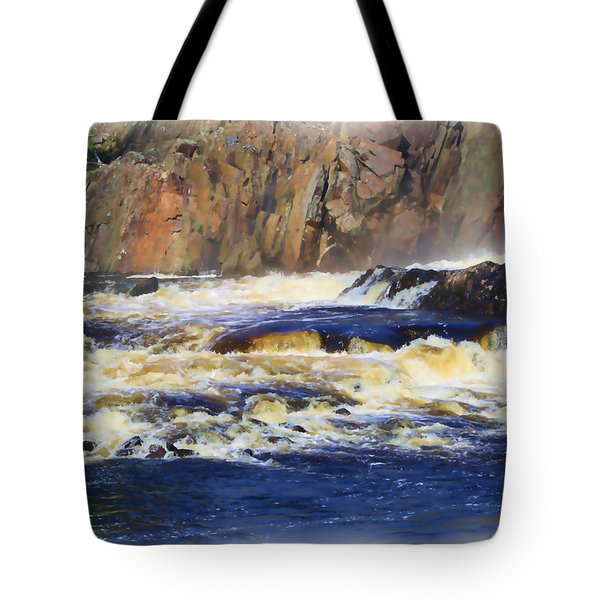 Michigame Falls Tote Bag
