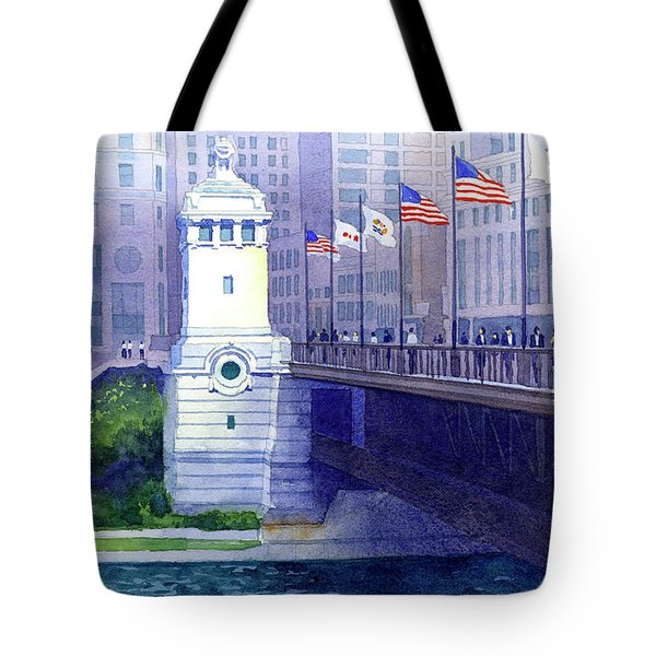 Michigan Avenue Bridge Tote Bag