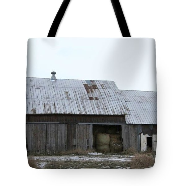 Michigan Barn Tote Bag by Kathie Chicoine