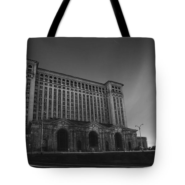 Michigan Central Station At Midnight Tote Bag by Gordon Dean II