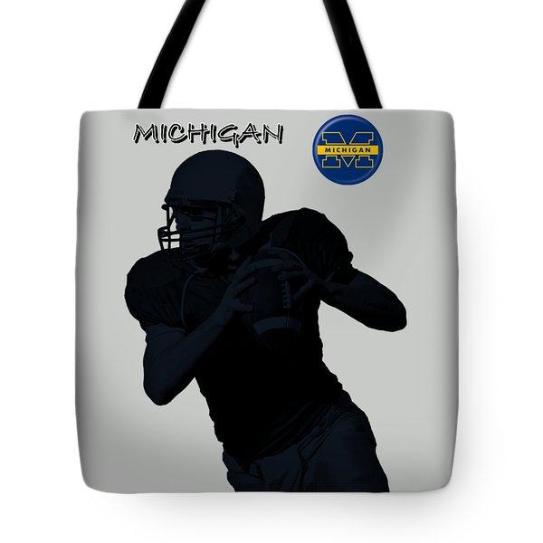 Michigan Football  Tote Bag by David Dehner