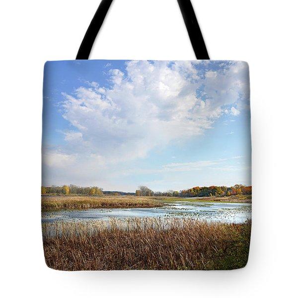 Michigan Marshland Tote Bag