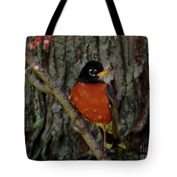 Michigan State Bird Robin Tote Bag