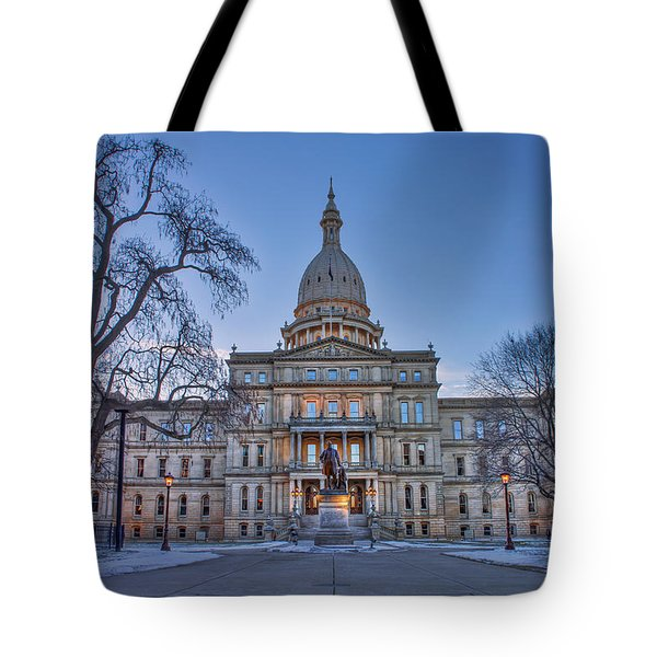Tote Bag featuring the photograph Michigan State Capitol by Nicholas Grunas