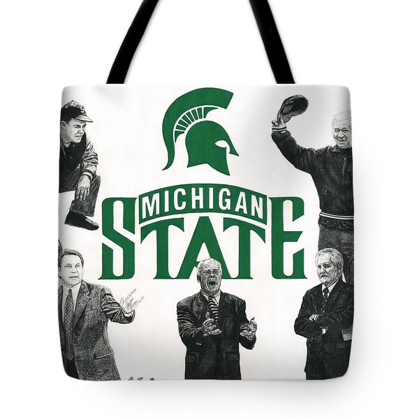 Michigan State Coaching Legends Tote Bag