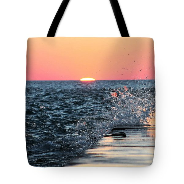 Michigan Summer Sunset Tote Bag by Bruce Patrick Smith