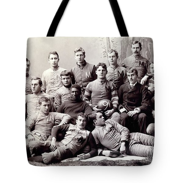 Michigan Wolverine Football Heritage 1890 Tote Bag by Daniel Hagerman