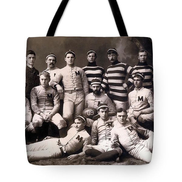 Michigan Wolverines Football Heritage 1888 Tote Bag by Daniel Hagerman