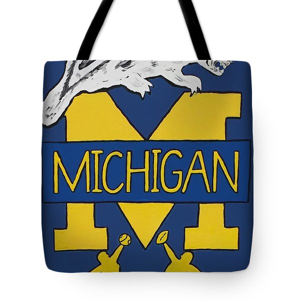 Michigan Wolverines Tote Bag