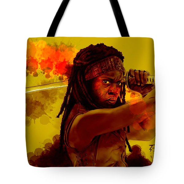 Michonne Tote Bag by David Kraig