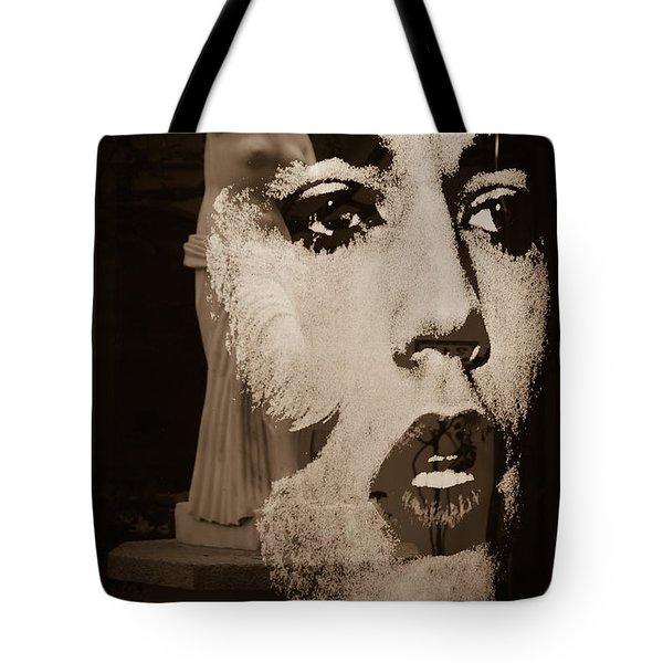 Mick Black And White Tote Bag