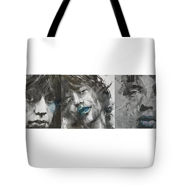 Mick Jagger Triptych Tote Bag