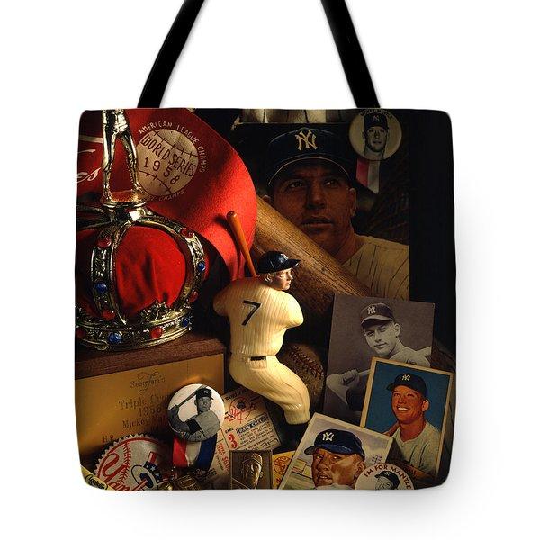 Mickey Mantle Tote Bag by David M Spindel