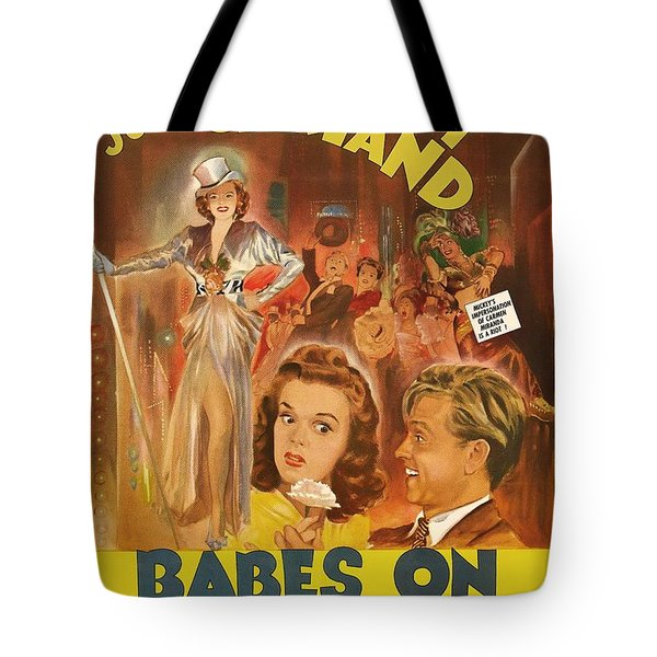 Mickey Rooney And Judy Garland - Babes On Broadway 1941 Tote Bag