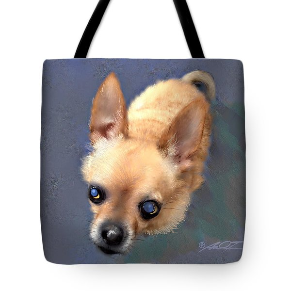 Mickey The Rescue Dog Tote Bag