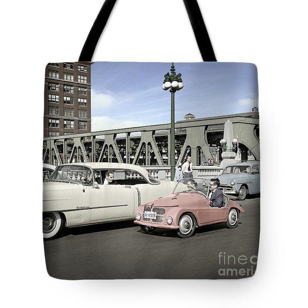 Micro Car And Cadillac Tote Bag
