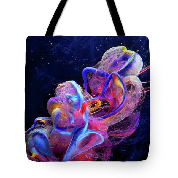 Micro Space - Colorful Abstract Photography Tote Bag by Modern Art Prints